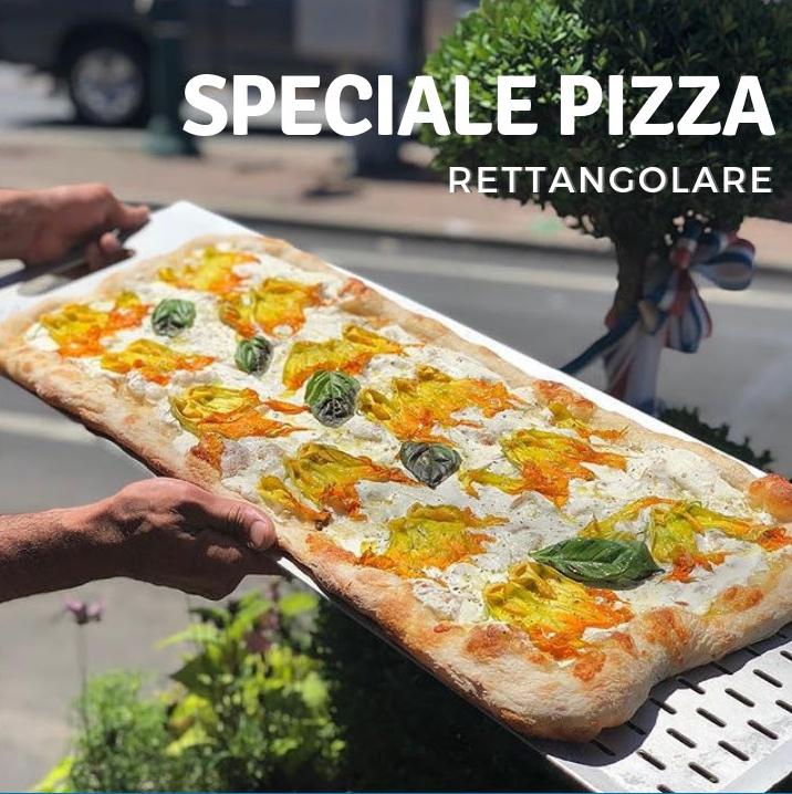 attrezzi per pizza al metro e rettangolare